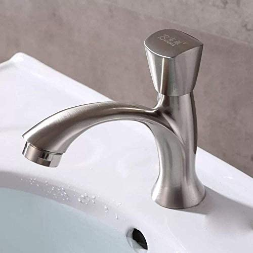 HXC-HXC 流域の蛇口ブラシシングルコールド盆地洗面シンクの上カウンター盆地シングルコールド蛇口バスルームにはバスルームタップをタップ 蛇口