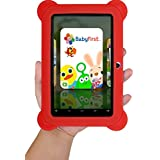 7 INCH Quad Core [Android 4.4 KitKat] Kid's HD Tablet PC- 8GB Storage W/32GB Expandable Memory, 1024x600, Dual Camera, WiFi, Micro USB/SD Card Slot, Google Play Apps- (Red)