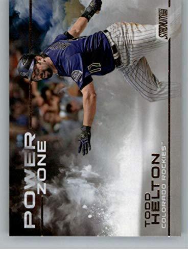 (2019 Stadium Club Power Zone Baseball #PZ-13 Todd Helton Auto Autograph Colorado Rockies)
