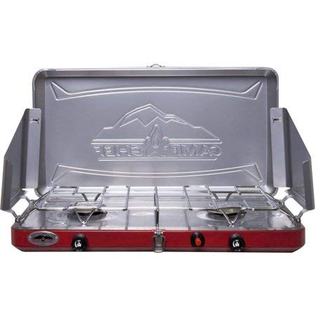 Camp Chef Teton MS2- Double Burner Stove with Stainless drip Tray + Hose & Adapter 5 Feet For Sale