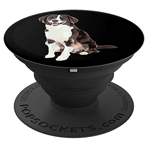 Border Collie Watercolor - Border Collie Watercolor - PopSockets Grip and Stand for Phones and Tablets