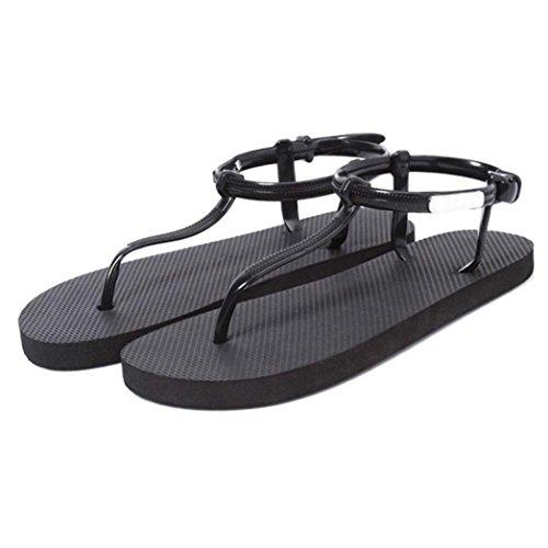 Sandalias Bohemia Planas Verano Sandalias de Xinantime las Zapatos Zapatos Negro de Playa YSqdw0