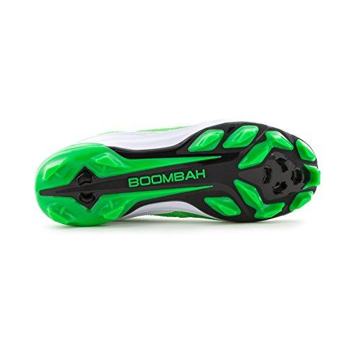 Boombah Dames Endura Gevormde Schoenplaatjes - 18 Kleurenopties - Meerdere Maten Zwart / Lime Groen