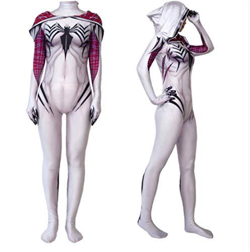 Women Girls Venom Spider Gwen Stacy Cosplay Costume Spiderman Zentai Superhero Bodysuit Suit Jumpsuits ()