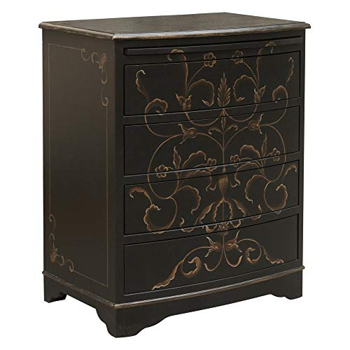 Pulaski DS-D018003 Hand Painted Curved Front Accent Drawer Chest, 26.0
