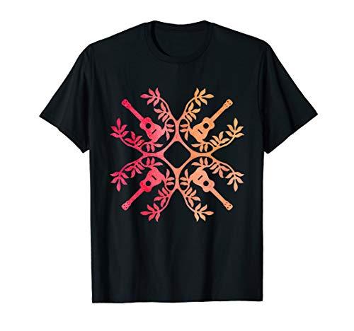 Hawaii Mele Music Quilt Tribal Tattoo Ukulele tshirt