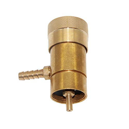 Joywayus Solid Brass Oxygen Regulator Tank Valve Fit Disposable Tanks with Barb Fitting