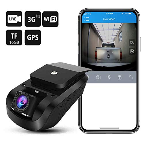 Dual Dash Cam Dashboard Camera 3G WiFi Dash Cam JimiIoT JC100 GPS Dash Cam Dashboard Cam for cars Dual Dash Camera Recorder-16GB TF Card Free |Live Video|Remote Video&Photo|Night Vision|Loop Recording
