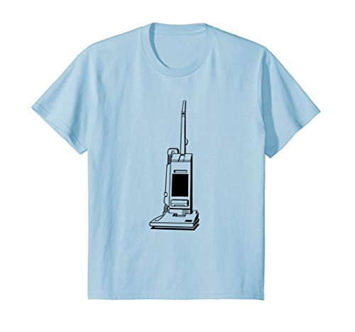Price comparison product image Kids Retro Vacuum Cleaner Print T-Shirt 4 Baby Blue