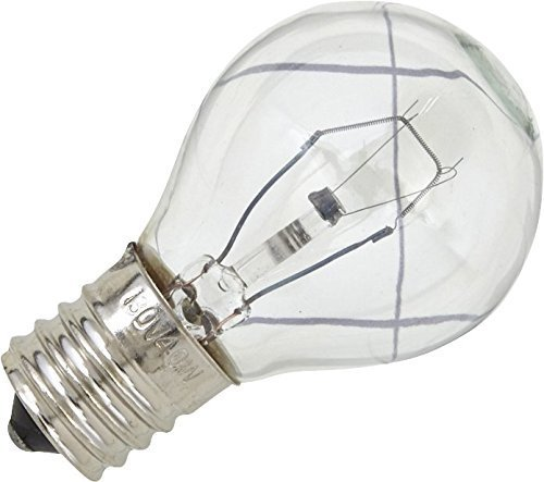 1 X PART # 8206443 OR AP3886256 GENUINE FACTORY OEM ORIGINAL MICROWAVE 40W LIGHT BULB FOR WHIRLPOOL, KENMORE AND SEARS