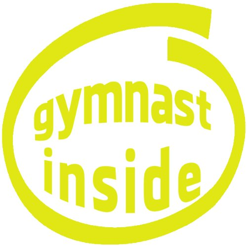 Gymnast Inside , Vinyl Car Decal, 'Red', '20-by-20 inches'