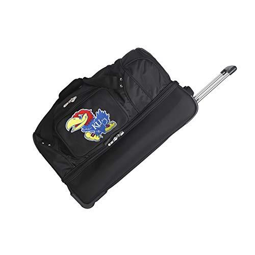 NCAA Kansas Jayhawks Rolling Drop-Bottom Duffel Bag, 27-inches