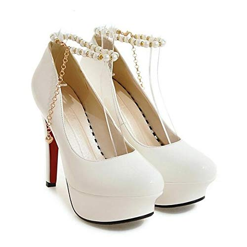 Heels Heel PU Stiletto Black Women's Pump ZHZNVX Spring Shoes White Basic Red Polyurethane White Z4cgwcxqpH