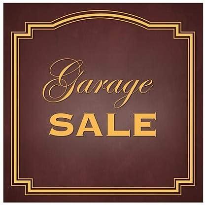 Classic Brown Window Cling 12x12 Garage Sale 5-Pack CGSignLab