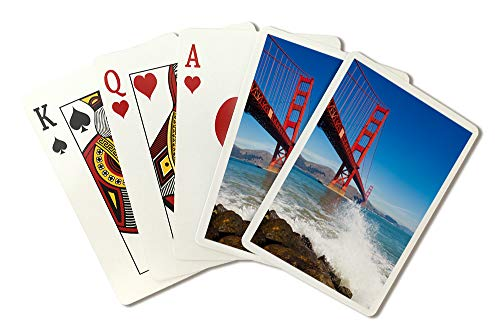 San Francisco, California - Golden Gate Bridge and Ocean Spray - Photography A-92293 (Playing Card Deck - 52 Card Poker Size with Jokers) ()