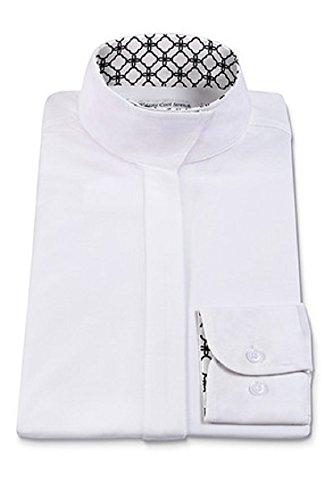 RJ Classics Ladies Prestige Collection Medallion Trim Show Shirt White/Black (36)