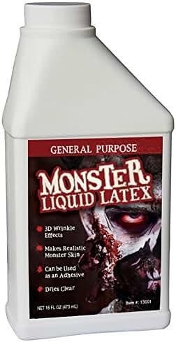 Monster Liquid Latex - 16oz Pint - Creates Monster / Zombie Skin and FX