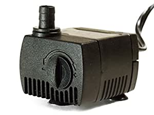 Canary Products POS3045 Pump Aquarium and Fountain Pump with 2 Feet Tubing and 10 Feet Cord, Black