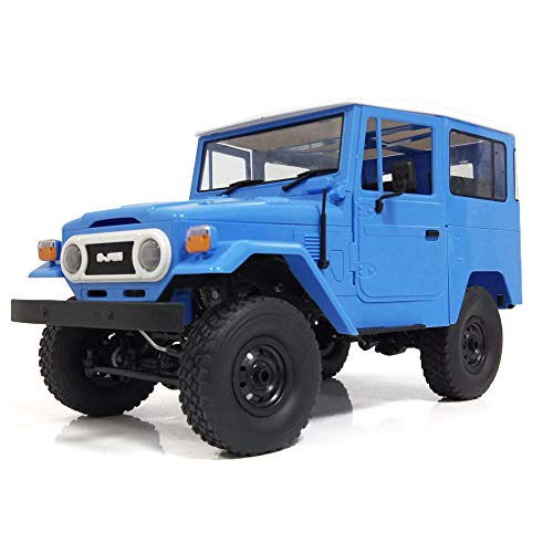 Aoile WPL C34KM 1/16 Metal Edition Kit 4WD 2.4G Buggy Crawler Off Road RC Car 2CH Vehicle Models with Head Light Blue 1/16 4wd Off Road Buggy