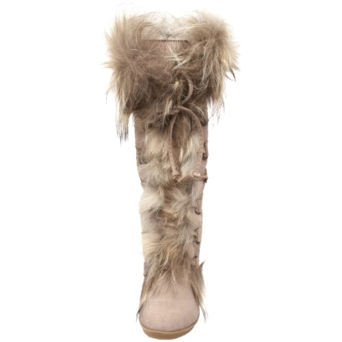BEARPAW Womens Anja Fur Boot,Sand,8 M US