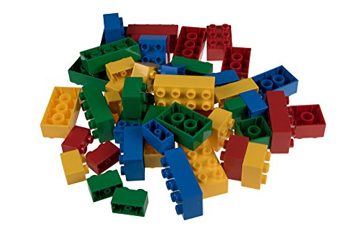 Strictly Briks Classic Big Briks 48 Piece Set Building Brick Set | 100% Compatible with All Major Large Brick Brands | Big Bricks for Ages 3+ | Tight Fit Bricks in Blue, Green, Yellow and Red