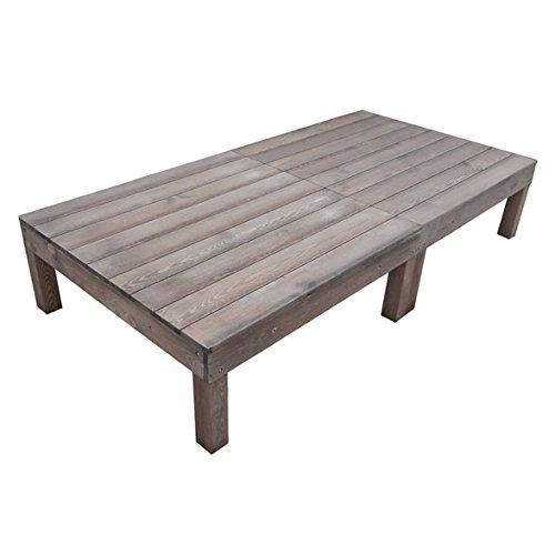 igarden アイガーデン ウッドデッキ2点セットダークブラウン アイガーデンオリジナル天然木製ウッドデッキ、ウッドデッキセット、木製デッキ、縁台 B01MSX6H0A