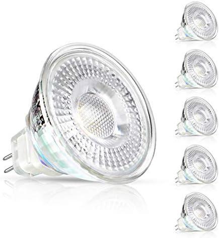 Creyer 5er Pack MR16 GU5.3 LED Lampen, 420LM, 5W Ersatz für 50W Halogenlampen, Warmweiß(2900K), Nicht Dimmbar, 12V AC/DC, LED-Reflektorlampe mit GU5.3-Sockel