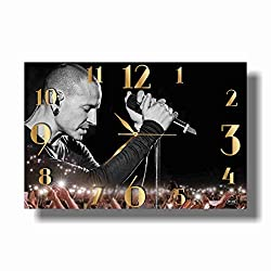 Art time production Chester Charles Bennington-Linkin Park 17 x 11 Handmade Wall Clock - Get Unique décor for Home or Office - Best Gift Ideas for Kids, Friends, Parents and Your Soul Mates
