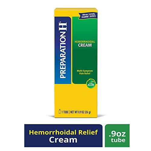 Preparation H Hemorrhoid Symptom Treatment Cream (0.9 Ounce Tube), Maximum Strength Multi-Symptom Pain Relief with Aloe (Internal Hemmoroid Treatment)