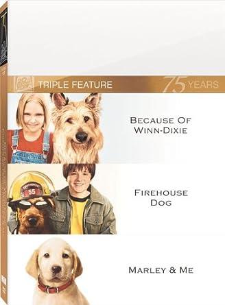 Amazon.com: Because of Winn-Dixie / Firehouse Dog / Marley & Me ...