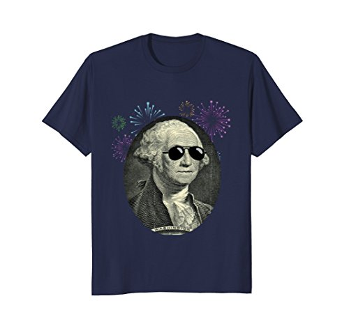 Mens Cool George Washington with Sunglasses T Shirt 4th July XL - 10 Glasses Ben