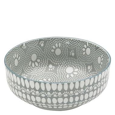 ORE Pet Speckle & Spot Ceramic Deep Bowl - Santa Fe Gray - 2 cups