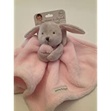 Blankets And & Beyond Baby Boy Security Lovey Pink Grey Bunny Nunu Layette by Blankets and Beyond