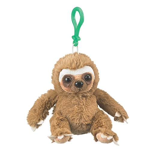 Wildlife Artists Sloth Plush Backpack Clip Toy Keychain 5.5