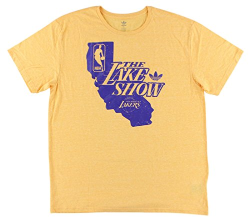 Los Angeles Lakers Heathered Gold adidas Lake Show State T-shirt (Heritage Show Shirt)