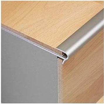 Dural STFAE 800/0.9; 8 mm Stepfloor anodizado efecto plata tornillo abajo para escalera Perfil de nariz, 0,9 m; aluminio para suelo de 8 mm de grosor: Amazon.es: Bricolaje y herramientas