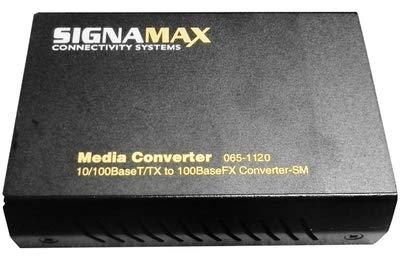 SignaMax 10/100BaseT/TX to 100BaseFX Media Converter, Singlemode/SC, 15km