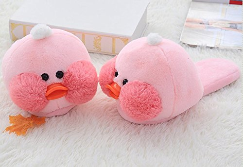 Getime Cartoon Cute Yellow//Pink Duck Duckling Winter Cotton Slippers Warm Shoes
