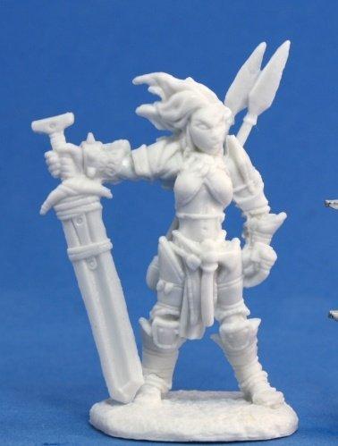 Reaper Miniatures 89005 Bones - Path Finder Amiri Iconic Barbarian Miniature
