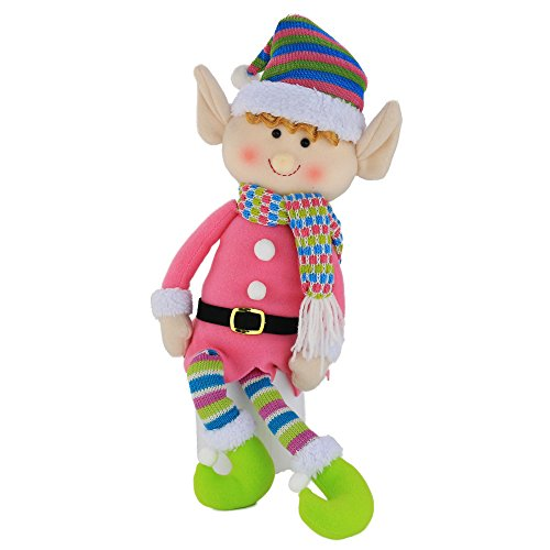 WEWILL Elf Plush Christmas Stuffed Toys-Adorable 20 Inch Girl Elf Holiday Plush Characters for Decoration ()