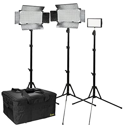 Ikan IBK2513-V2 Interview Bi-Color Interview Kit with 1x iLED312-V2 and 2x IB500 (Black) from Ikan