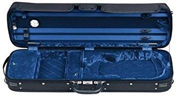 Gewa Atlanta Black Oblong 4/4 Violin Case with Blue Velvet Interior (Violin Gewa)