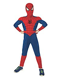 Rubies Costume Marvel Universe Ultimate Spider-Man Deluxe Muscle Chest, Child Small