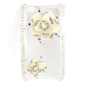 JOE Fashionable Diamond Case for iPhone 4 / 4S (Flower, Handmade)