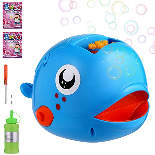 MeCids Bubble Machine for Kids Bubble Blower for Toddler Indoor Outdoor - Automatic Bubble Maker 2000 Bubbles per Minute with Concentrated Solution