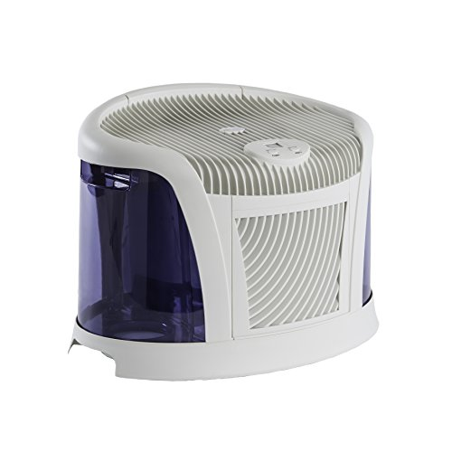 AirCare 3D6 100 Mini-Console-Style Evaporative Humidifier, White and Midnight Blue by AirCare (Image #2)
