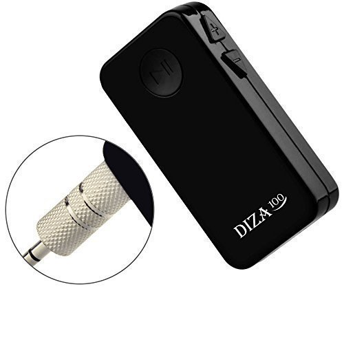 Bluetooth Receiver, DIZA100 Music Wireless Receiver Streaming Adapter & Hands-Free Car Kits, for Smartphones/Home/Car Audio Stereo System