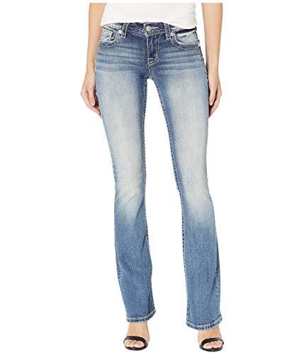 Miss Me Women's Mid-Rise Chloe Boot Cut Jeans, Medium Blue, 26