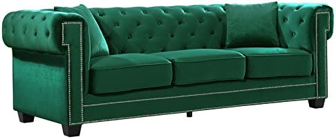 Best living room sofa: Meridian Furniture Bowery Collection Modern | Contemporary Button Tufted