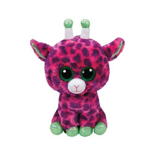 Ty 37142 Gilbert – Giraffe Plush Animals with Glitter Eyes, Glubshi's Beanie Boo's 24 cm ()